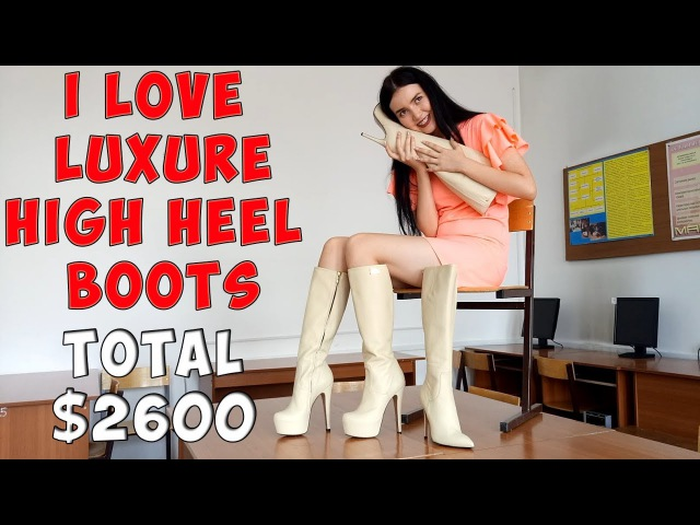Female happiness 2 pairs of absolutely new luxury high heels boots RRenzi Size 38