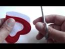 Вырезаем двухслойную деталь из фетра