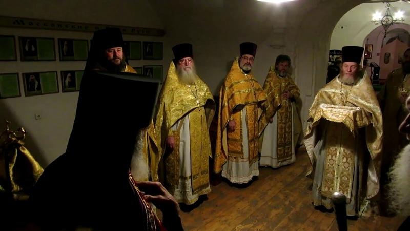 Встреча Владыки Адриана в Спасо-Преображенской церкви г. Торопец