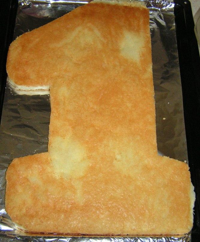 торт единичка-жираф