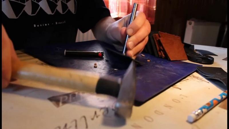 Изготовление финки от создания чертежей клинка, до пошива ножен Дмитрием Собра