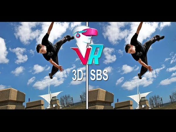 Parkour 3D Rooftop - Full HD POV (3D SBS VR Box)