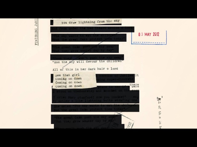 Nick Cave & The Bad Seeds - Finishing Jubilee Street (Lyric Video)