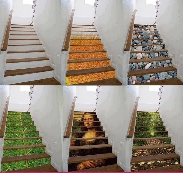Принты на ступенях #DIY_Идеи