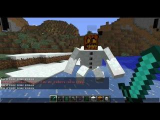 Как сделать в майнкрафте снеговика без модов