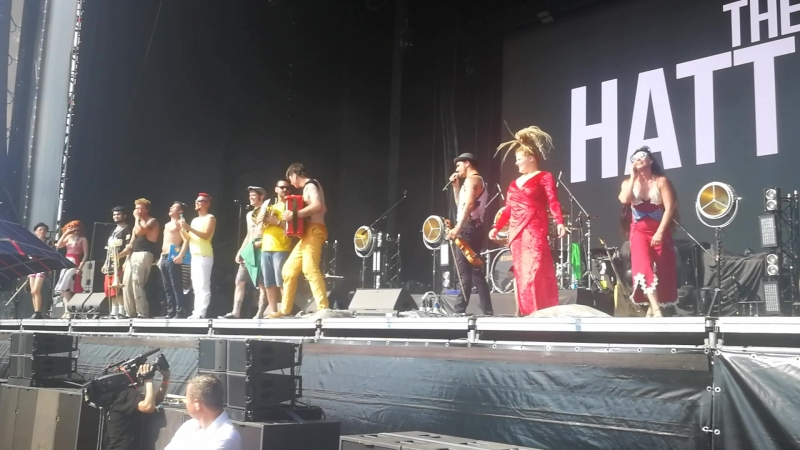 The Hatters - уход группы под Да со мной не просто (PARK LIVE, Moscow, 28.07.2018)