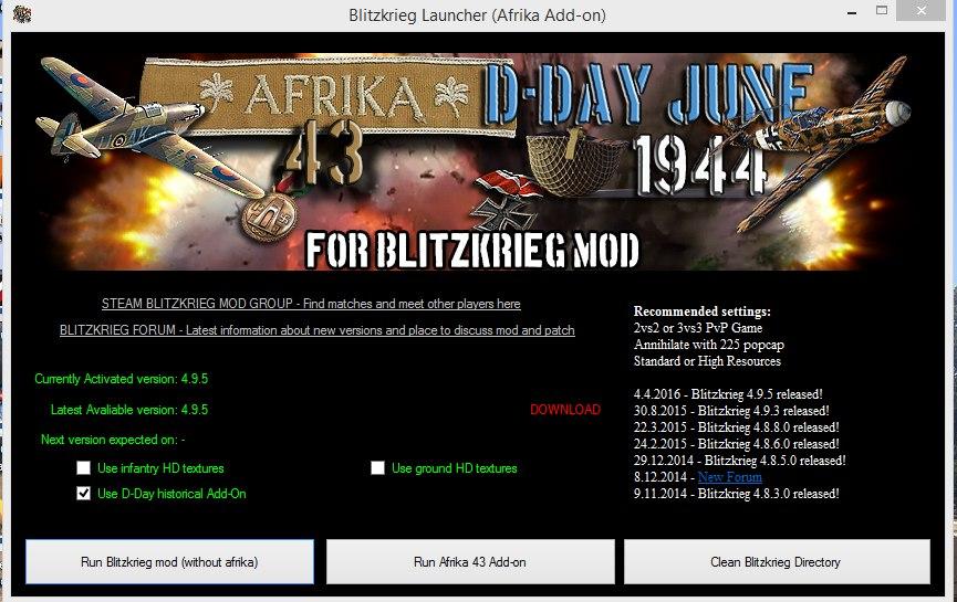 D-Day June 1944 & Afrika 43 for Blitzkrieg Mod [Addon] (01 05 2019