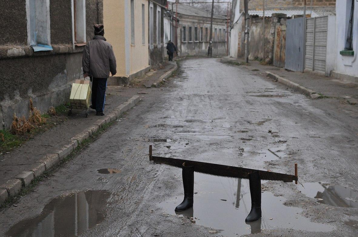 Олександр Кадніков, ОЧІКУВАННЯ, із серії Кримгума, 2009, цифровий друк