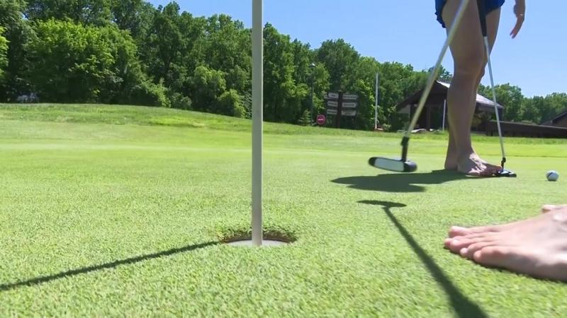 Збірна грає в гольф