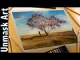 Fall Sunset &amp Maple Tree  Soft Pastel Landscape Time Lapse