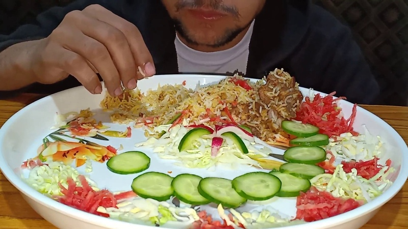 SALAD DUM BIRYANI YUMMY💥|MUKBANG EATING SHOW|NO TALKING JUST EATING|EATING SOUNDS|ASMR|FASTFOOD