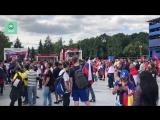 Сотни болельщиков в фан-зоне на Воробьевых горах попали на видео