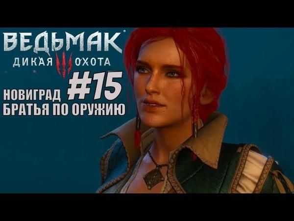 Ведьмак 3 дикая охота witcher 3 wild hunt Братья по оружию Новиград Прохождение на PS4 pro