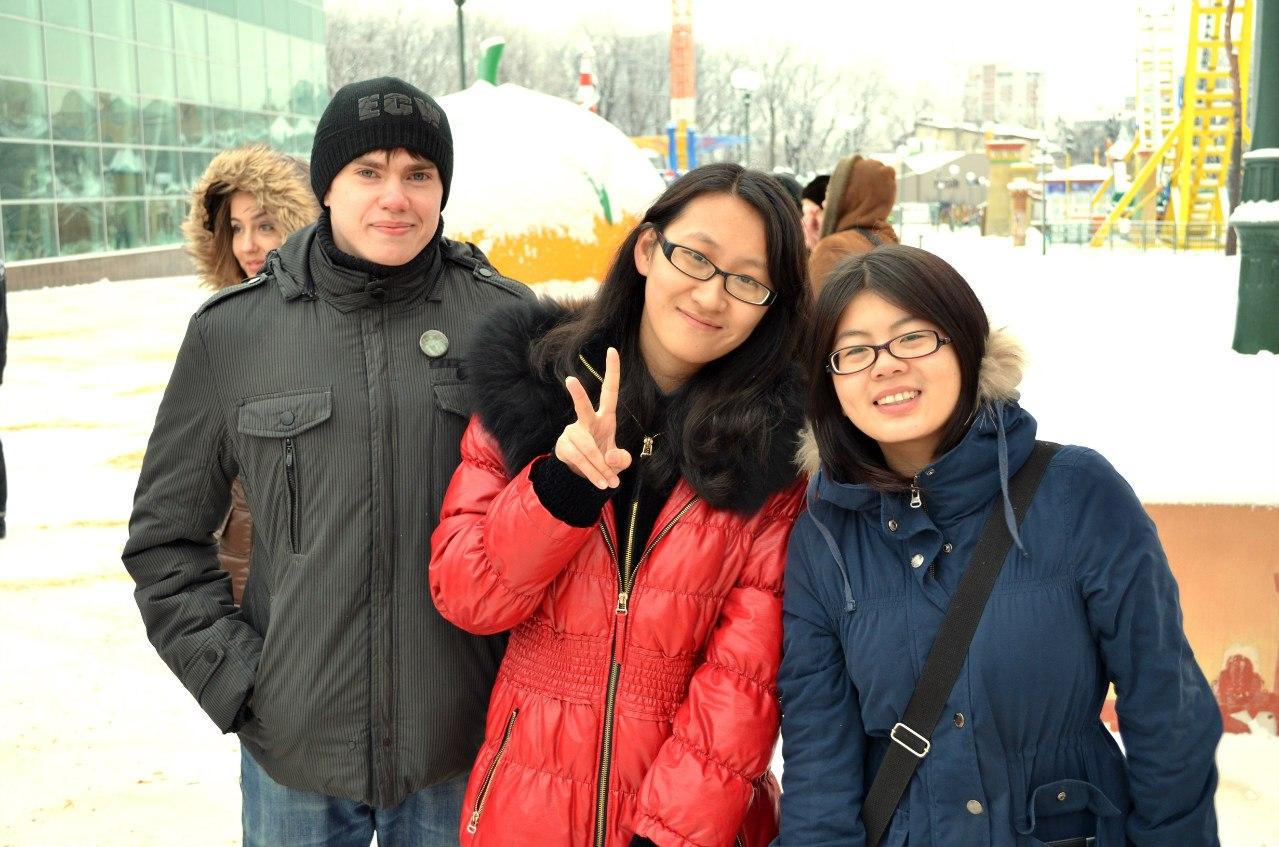 Студенты Каразина в парке Горького