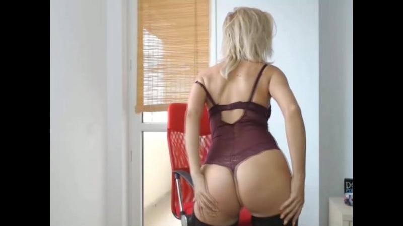 Блондинка перед вебкой попка сиськи стриптиз красиваядевушка секс подборка телка жопа классная грудь ass boobs