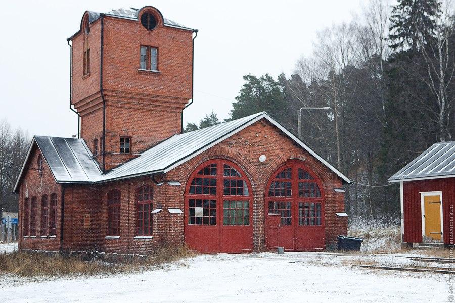 Финляндия Порвоо Finland Porvoo Suomi железная дорога поезд вагон