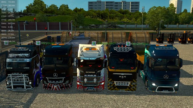 Конвой с Кабельной катушкой в Euro Truck Simulator 2 от MTI