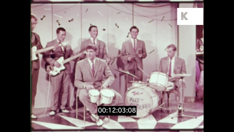 1960s Guitar Band Play in Nightclub, HD