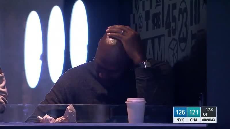 Недовольство Майкла Джордана в концовке встречи