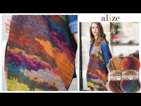 🔴Çift Batik ile Yelek Yapımı - Double Batik Vest Tutorial Angora Gold Batik