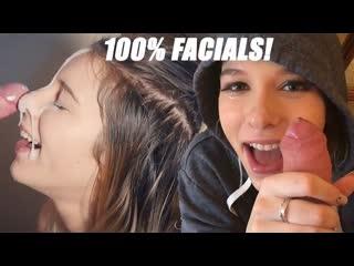 Kinkycouple111 (samantha flair) — 100% facials part 2: so much cum for my pretty face!