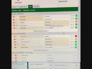Прогноз на матч Атлетико - Барселона