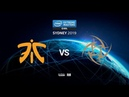 Fnatic vs Nip IEM SYDNEY 2019 map3 de dust2 MintGod ceh9