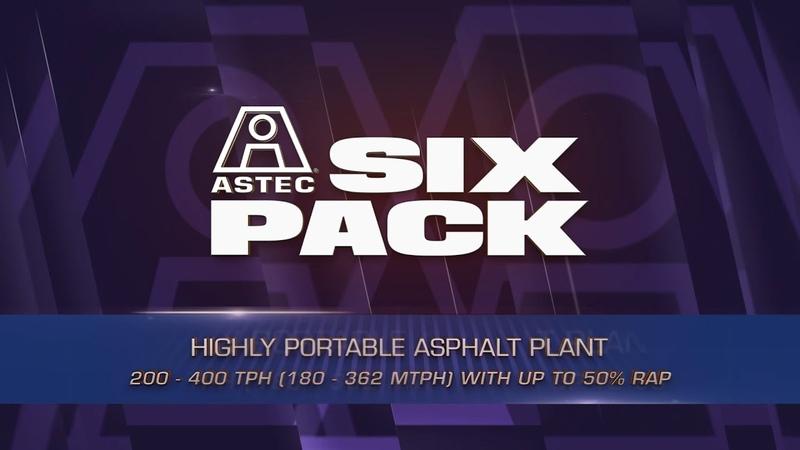 Astecs SixPack Asphalt Plant (3D Animation)