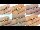 Tiny stud earrings 20 Stylish Designs of Small Earrings