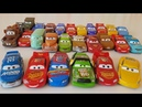LOTS of Disney Cars 3 Diecast Car Toys Lightning McQueen Collection Review on the table