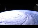 Мощный ураганный циклон Флоренс над Америкой. Вид с космоса