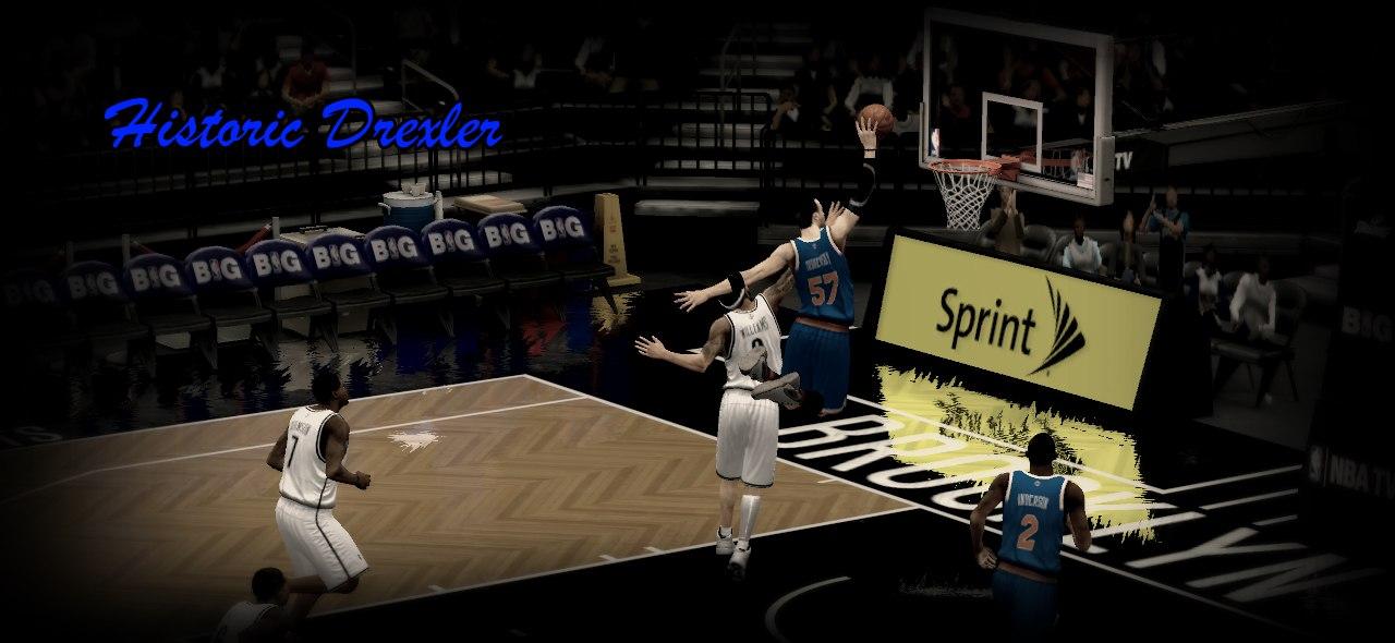 Historic Drexler slam dank NBA2K13