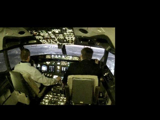 посадка Boeing 737-800 Москва Шереметьево 25R