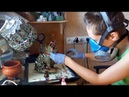 Making of sea stained glass cat figurine