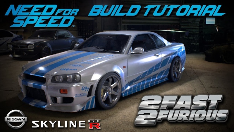 Need for Speed 2 Fast 2 Furious Brian's Nissan Skyline Build Tutorial