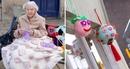 104-летняя бабушка украшает свой город связанными вручную вещами