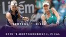 Kiki Bertens vs. Alison Riske | 2019 Libema Open Final | WTA Highlights