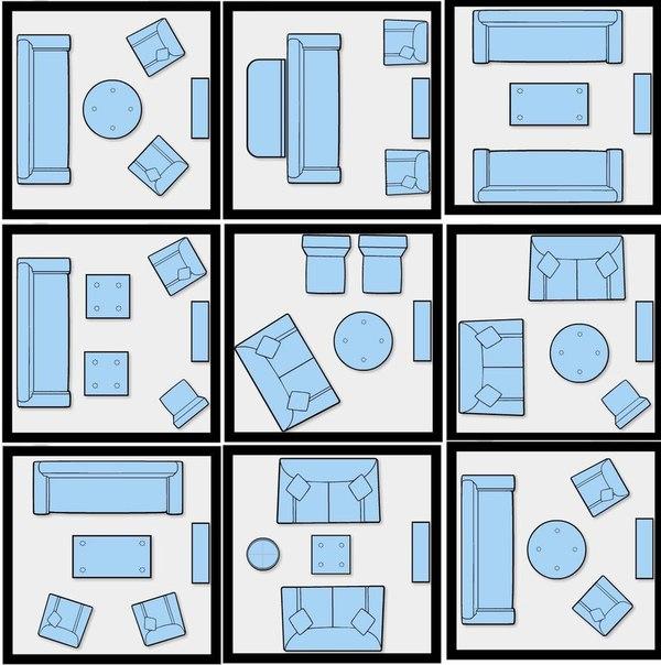 Идеи расстановки мебели в маленькой гостиной