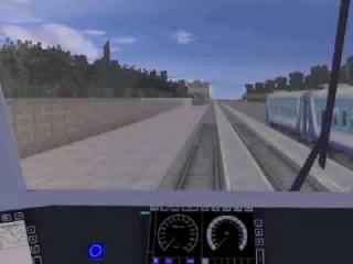 [TRAINZ] Поездка на электровозе ЭП2К-147 с пассажирским поездом