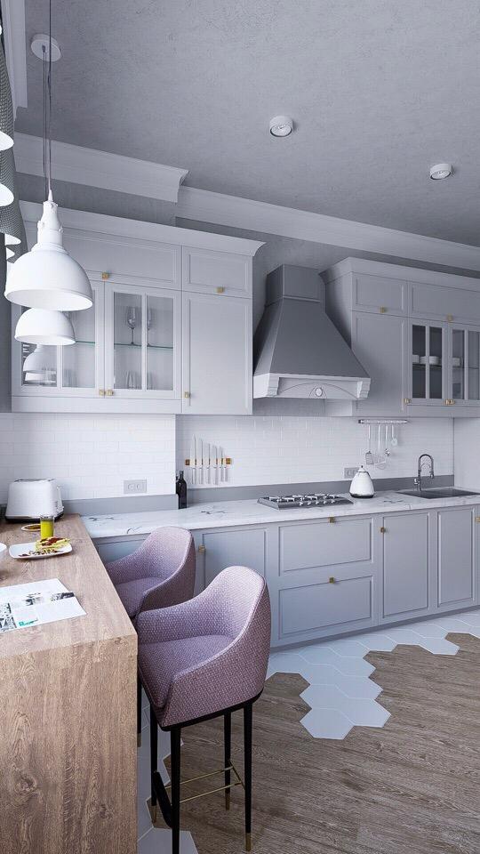 Кухня для молодой семейной пары, 17 кв.
