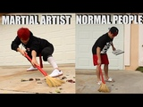 MARTIAL ARTIST VS NORMAL PEOPLE