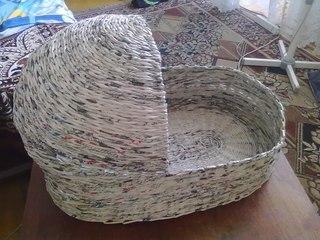 плетение корзинок сундучков из газет