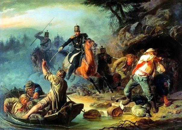 Картина, с которой началась «Третьяковка» «Стычка с финляндскими контрабандистами» В.Г. Худякова первая картина, приобретённая П.М. Третьяковым 10(22) мая 1856 года за 450 руб. Эту дату принято