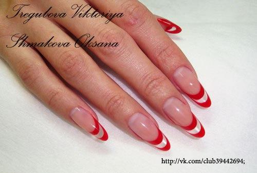 Миндальные ногти дизайн фото