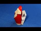 Оригами Санта Клаус (Origami Santa Claus)