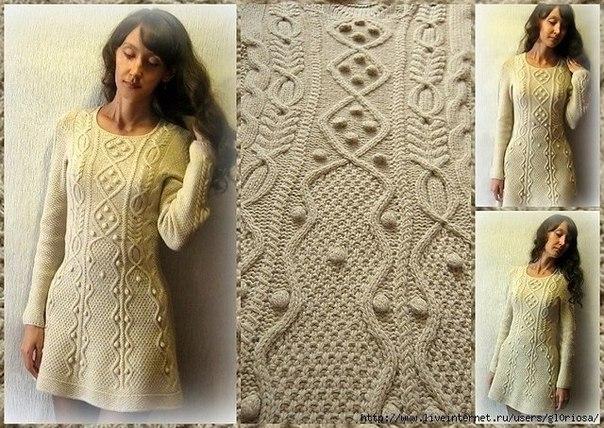 Платья аранами вязание