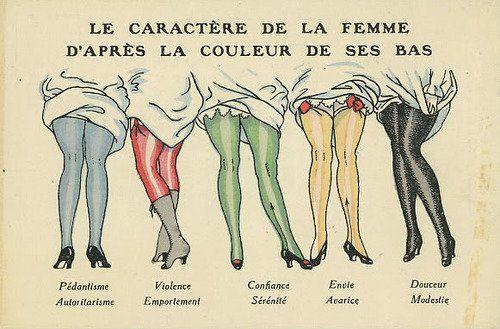 Определение характера женщины по ее нижнему белью:
