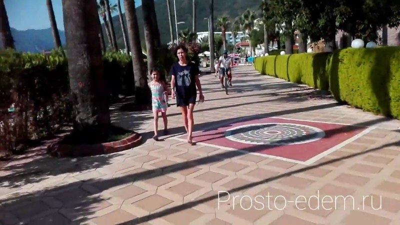 Мармарис. Дорога от отеля Идеал Панорама (Ideal Panorama) до моря (пляжа)