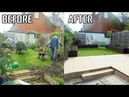 Small Garden Makeover Slab Patio Raised Timber Planters Turfing New Lawn Stonemason Landscapes