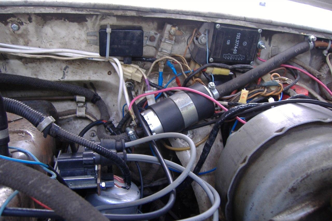 схема проводов от катушки зажигания на змз 406